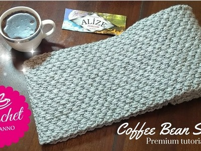 How to Crochet a Scarf for Men #1 New Stitch ☕ The Crochet Shop Exclusive Free tutorials