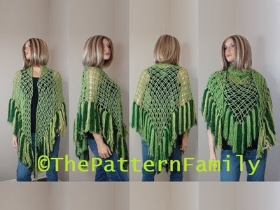 How to Crochet a Shawl Pattern #193│by ThePatternFamily