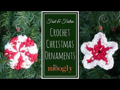 How to Crochet: Fast & Festive Christmas Ornaments Tutorial (Left Handed)