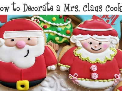 How to Decorate a Mrs  Claus Cookie