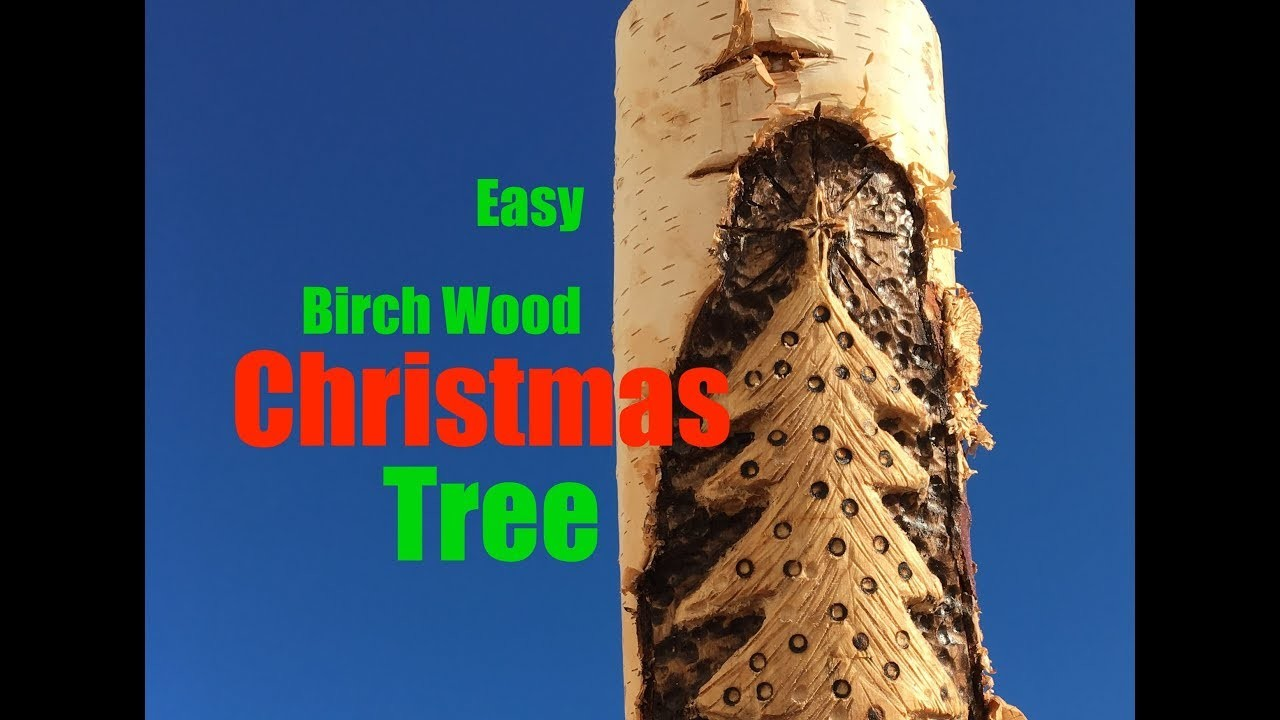 How to easily carve a birch wood Christmas Tree decoration with a dremel grinder