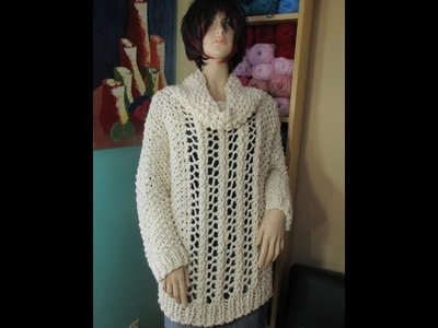 How to knit a supper size sweater