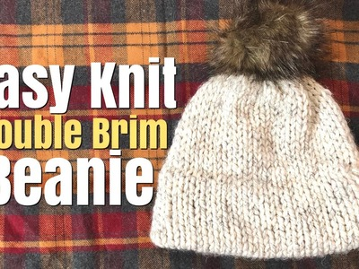 How To Knit: Easy Knit Double Brim Beanie