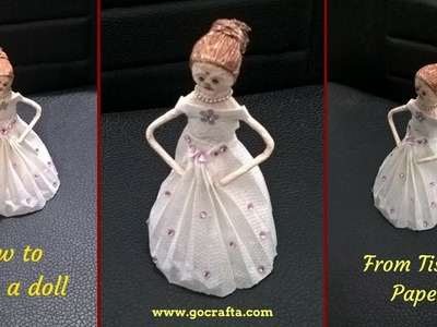 How to Make a Doll from Tissue Paper | DIY Paper Doll | Doll Clothes