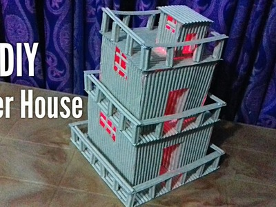 How to make a Paper House.DIY Paper House Tutorial.Paper House Crafts