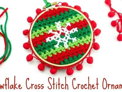 How To make A Snowflake Cross Stitch Crochet Ornament