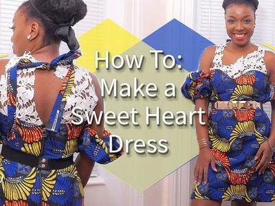 HOW TO: MAKE A SWEET HEART NECKLINE A-LINE DRESS | KIM DAVE
