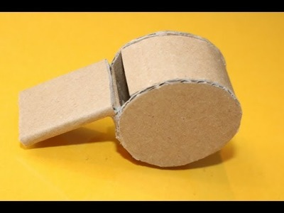 How to Make a Whistle using Cardboard (Home Made)