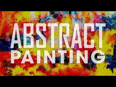 How To Make.Abstract. Brush and Palette knife.Acrylic Abstract Painting Tutorial#17