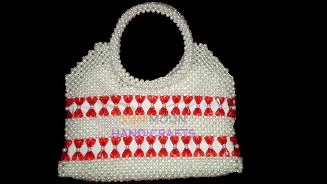 How to make beaded bag. new party bag(part-1).beaded bag, My ...