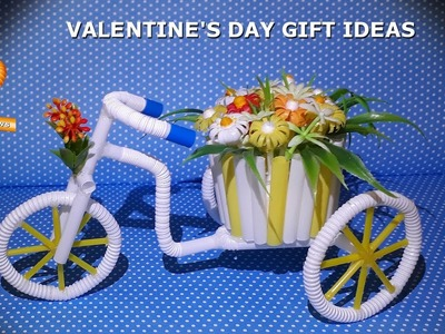 How to make Bike Flower - Amazing Flower Pot - AWESOME Valentine's Day Gift Ideas