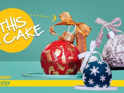 How To Make Christmas Ornaments out of CAKE   Step By Step Tutorial   How To Cake It   Yolanda Gampp