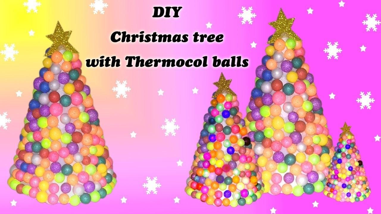 How to make Christmas tree with thermocol balls | DIY for kids | Niya Kumar
