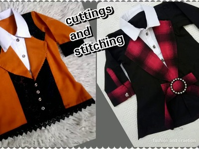 How To Make Coat Style shirt.Top Cutting and stitching tutorial video.latest and trendy designs