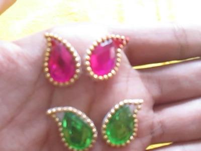 How to make earrings for bal gopal.ladoo gopal.kanha ji  keliye  earring  in the simple way .