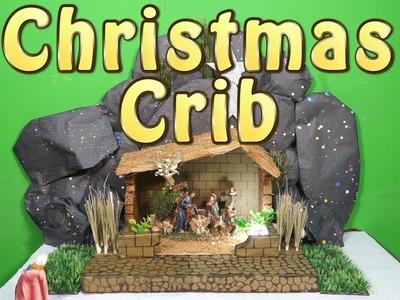How to Make Easy Christmas Crib - DIY Nativity Scene | CHRISTMAS CRIB MAKING | Type -2