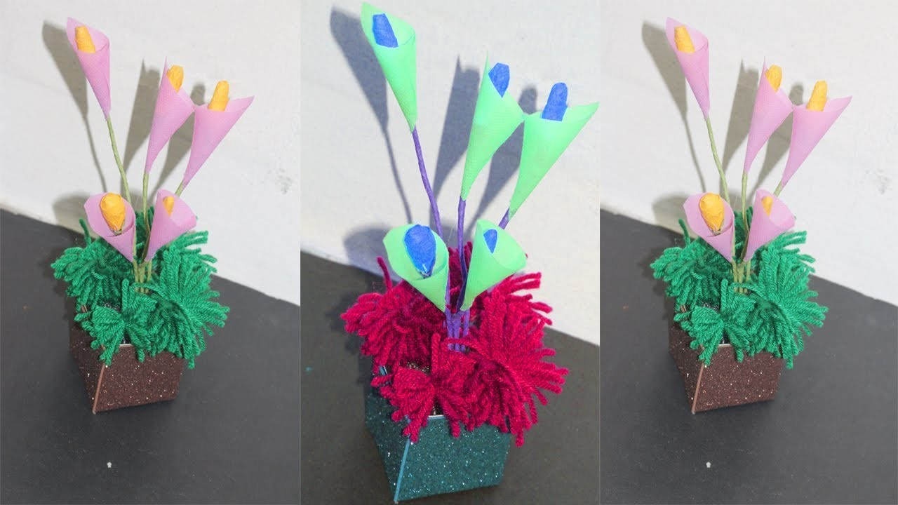 Making How To Make Flower With Paper Making Paper Flowers Step By
