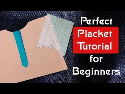 How to make perfect placket, how to make placket,DIY beginners tutorial Hindi with sub titles