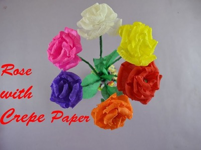 Flower how to make rose flower with crepe paper tutorialdiy rose how to make rose flower with crepe paper tutorialdiy rose mightylinksfo