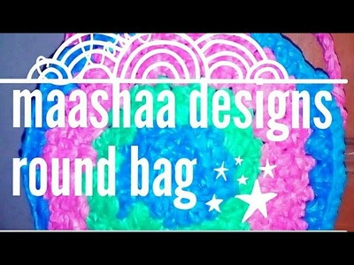How to make round shaped bag with carry bag