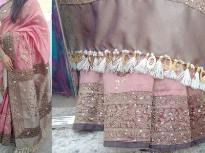 How to make saree kuchu l how to make saree taseel