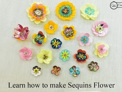 How to make Sequins Flower | Tutorial for Beginners