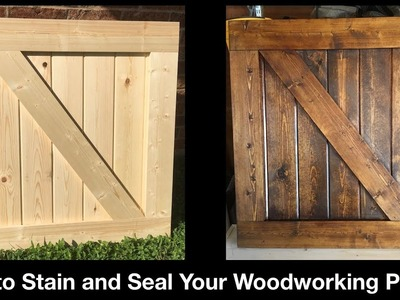 How to Stain Your Woodworking Project