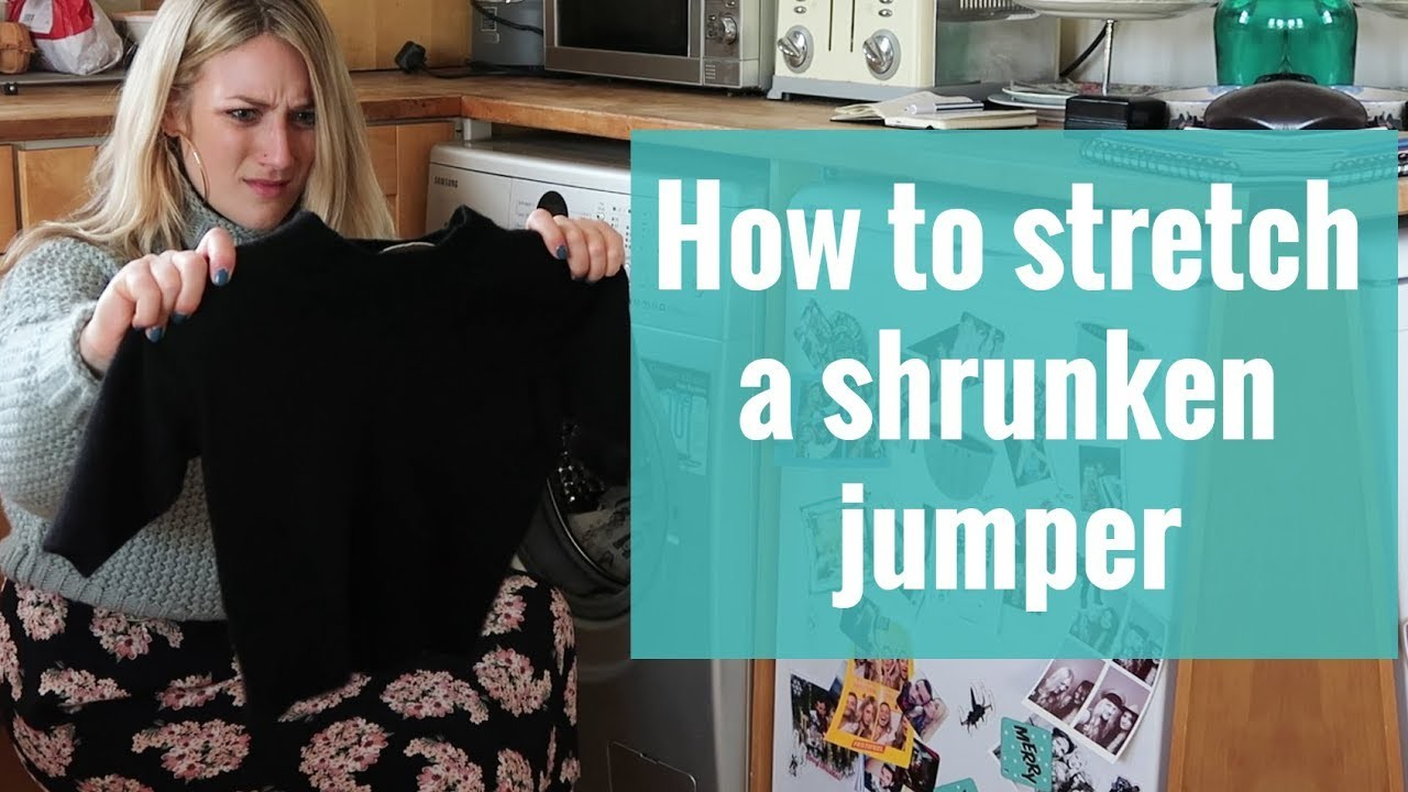How to stretch a shrunken jumper | Wardrobe Stories | The Pool