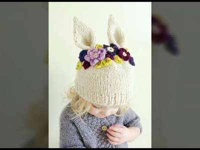Kids hat knitting design | collection of beanie | winter topi. cap knitting in hindi