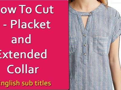 Kurti collar neck design cutting and stitching, simple method DIY Hindi tutorial for Beginners