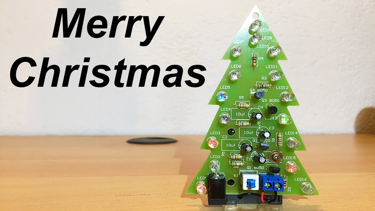 LED Christmas Tree DIY [Electronic KIT Assembly] - By STE