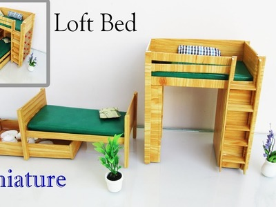 Loft Bed | How to make a Miniature  furniture | easy crafts ideas