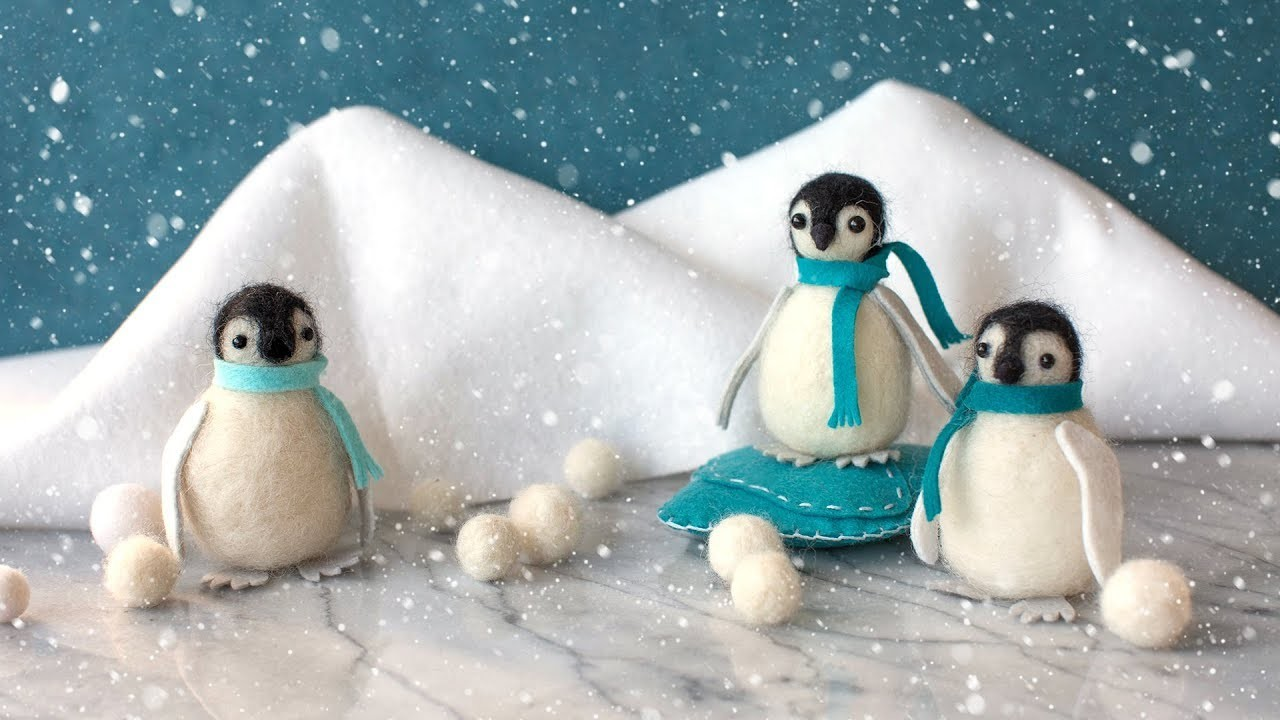 Needle Felting for Beginners - How To Make A Felted Penguin
