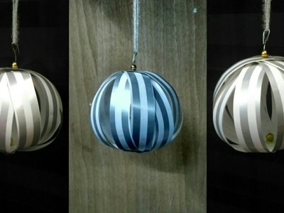 New Year decoration | Christmas Paper  Decoration Ornaments. Bauble-5 | Home Decor ideas | DIY