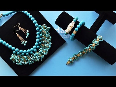 PandaHall Easy DIY Jewelry Set Tutorial on Turquoise Beads