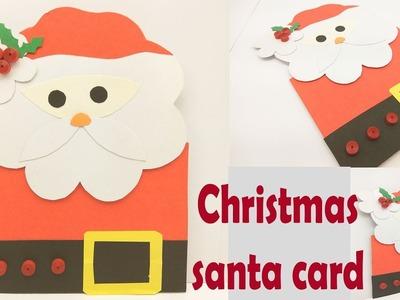 Santa christmas card | how to make christmas greeting card