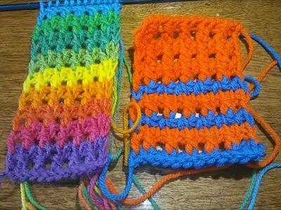 Side by side: Tunisian crochet in a day