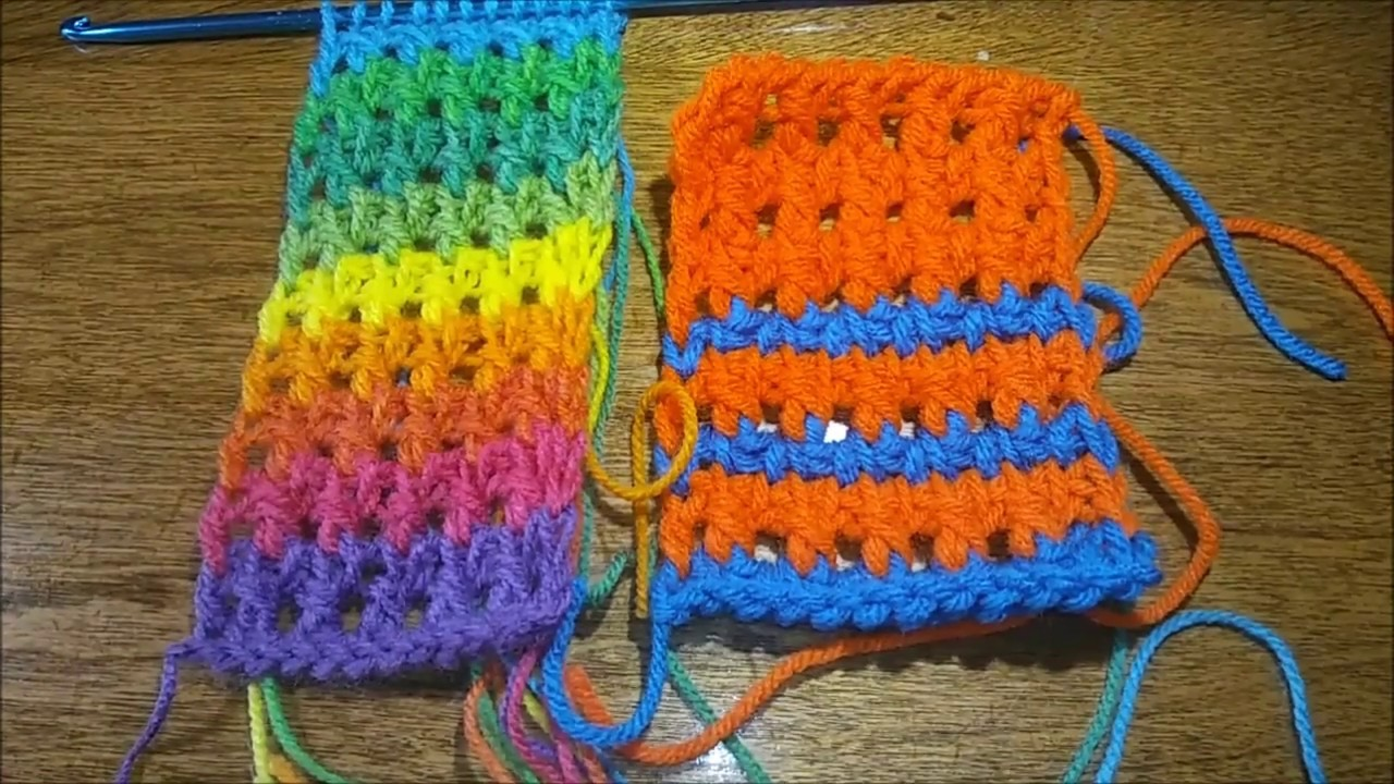 Side by side: Tunisian crochet in a day