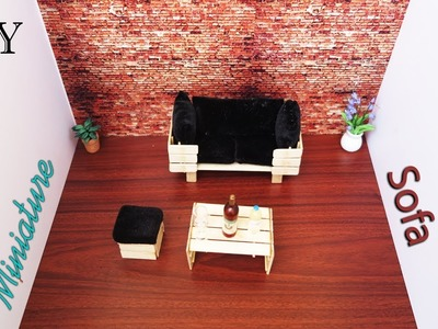 Sofa & Table | DIY Miniature furniture crafts ideas