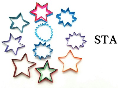Star Decoration -  Different sizes and shapes - DIY Tutorial - 859