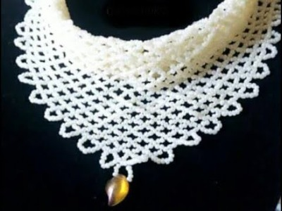 The tutorial on how to make a beaded skaf.
