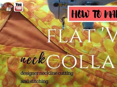 V neck How to make flat V collar
