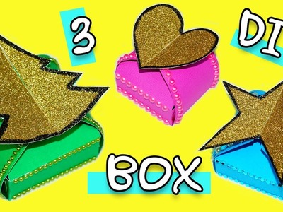 3 DIY ideas gift box | Gift ideas for Christmas | How to make gift box | DIY paper crafts