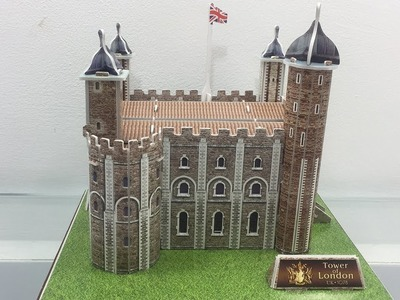 3D Paper Super Puzzle DIY, How to Assembly the Paper Tower of London