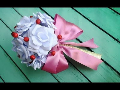 ABC TV | How To Make Bouquet Paper Rose Flower From Printer Paper - Craft Tutorial