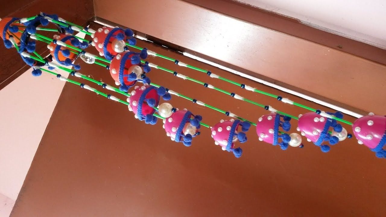 Amazing Beaded Wind Chime For Home Decor | How to make door.wall hanging wind chime with cotton buds