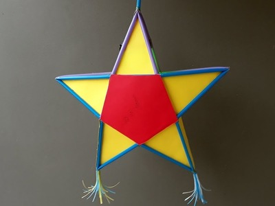 Amazing diy projects with drinking straw - How to make paper straw star lantern