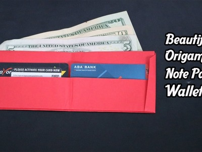 Beautiful Origami Note Paper Wallet.Purse Surprising Kids   How To Fold Wallet.Purse From Note Paper