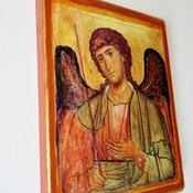 Byzantine Icon Saint Gabriel the Archangel Religious Icon Antique Image Orthodox icon Catholic Icon 5 x 7 wooden icon Christian art gift