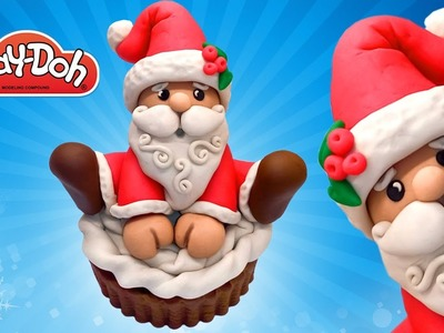 Cartoon Santa Claus Play Doh. How to make Santa Claus Toy with  Play Doh Clay DIY. Craft for Kids